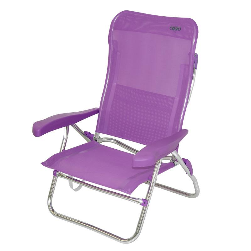 Silla cama de playa aluminio covilas - Carro para playa transportar sillas ...