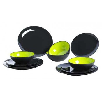Dinner set Melamina 12 pzas. Verde