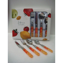 Set cubertería 24 piezas Naranjas