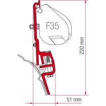 Kit adaptador F-35 pro Brandrup VW T4