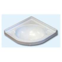 Lavabo rinconera de 430x430 Blanco